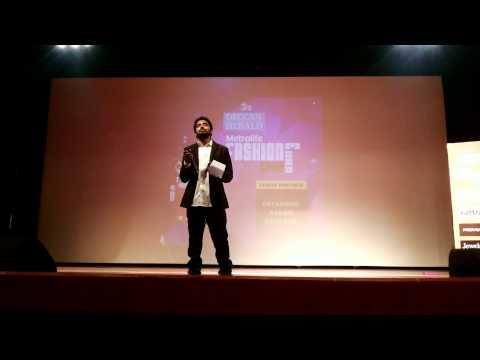 MC AMAR Hosting DECCAN HERALD METRO LIFE FASHION SHOW
