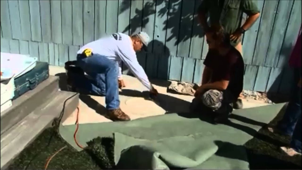 Diy Network Extra Yardage Turf N The World Artificial Gr Over Concrete You