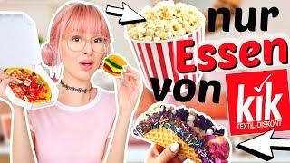 24 Stunden nur von KIK essen 😳| ViktoriaSarina