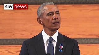 Barack Obama gives eulogy as former presidents attend John Lewis funeral