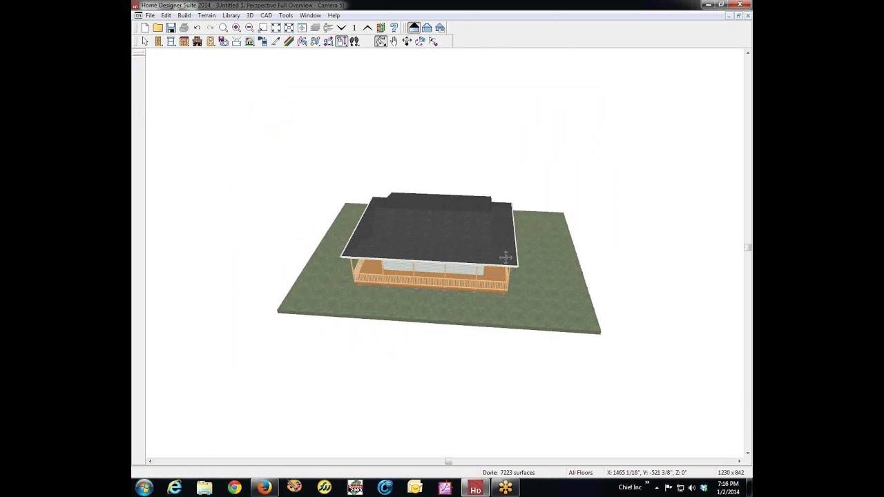 Home Designer Suite 2014 wrap-round porch - YouTube