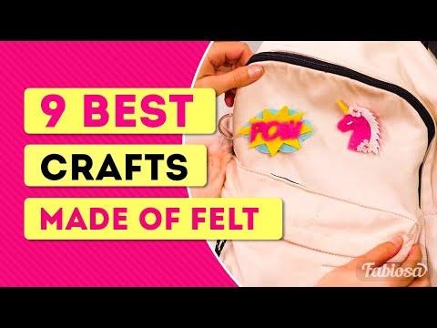 9 best crafts made of felt! | Tips & Tricks