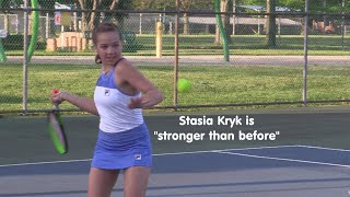 Stasia Kryk more focused and fit