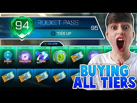 Buying The WHOLE ROCKET PASS! |  ALL ROCKET PASS TIERS | Rocket League thumbnail