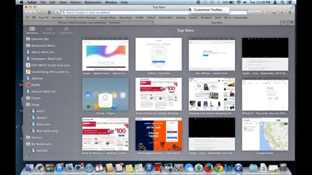 How to customize your Safari toolbar in Mac OS X Mavericks ...