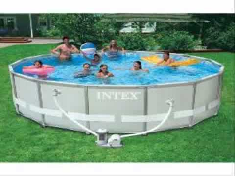 Intex 15 Foot By 42 Inch Family Size Round Metal Frame Pool Set