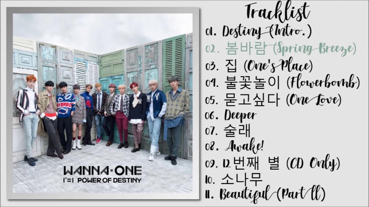 Download Wanna One (워너원) – 1¹¹=1 (POWER OF DESTINY) [FULL ALBUM]