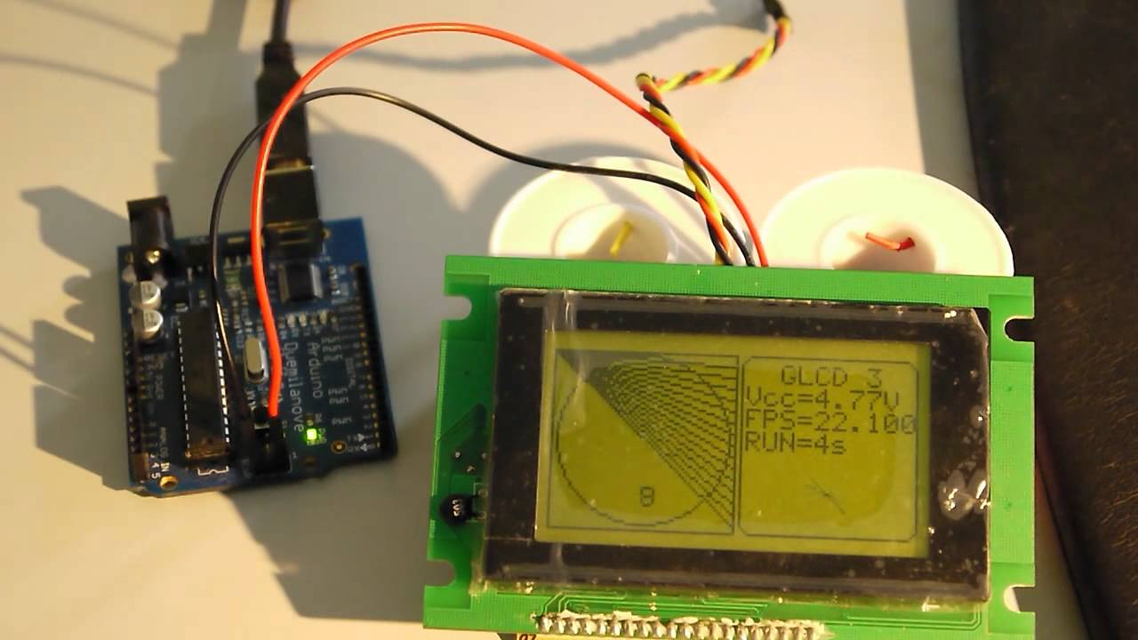 Arduino I2C LCD GLCD backpack