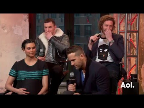 Ryan Reynolds, TJ Miller, Ed Skrein and Morena Baccarin On