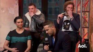 "Ryan Reynolds, TJ Miller, Ed Skrein and Morena Baccarin On ""Deadpool"" AOL BUILD"