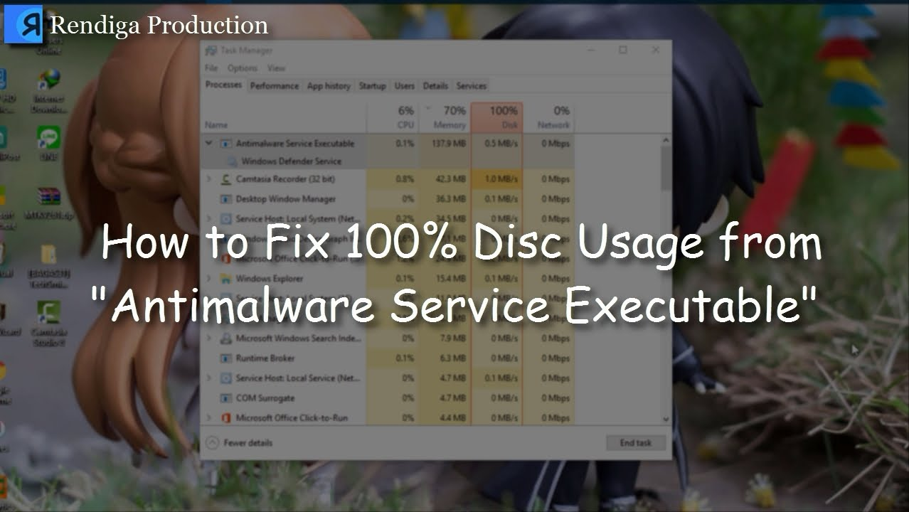 How To Solve 100 Disk Usage Antimalware Service Executable No