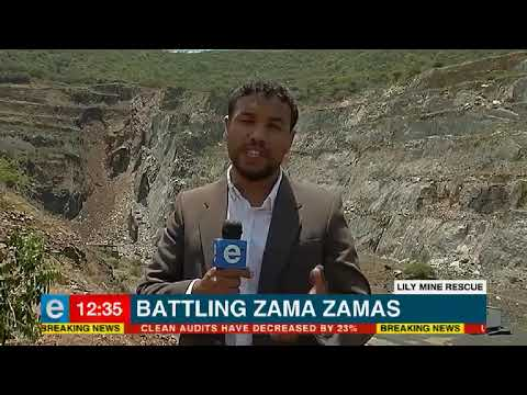 Battling illegal miners at Lilly Mine