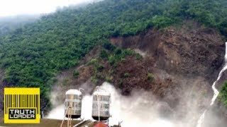 Massive landslide in Taiwan caught on camera - Truthloader