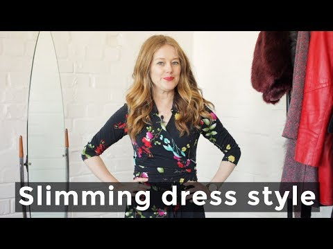 Dress style that makes you look slimmer for women over 40 - over 40 style