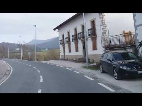 el Camino - von Pamplona in den Schnee -  Spain sandblech streetview