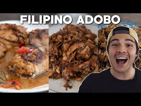 Chicken and Pork Adobo 4 Ways (The Best Adobo Flakes) Filipino Recipes