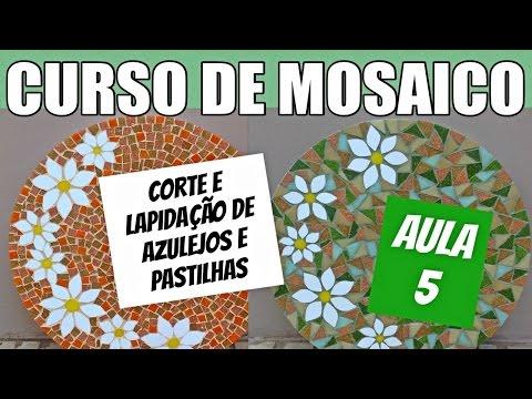 ad2bdfdcc9 Curso de mosaico 5 - Aprenda a cortar e lapidar azulejos e pastilhas  (testando a