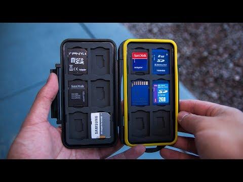 Best Memory Card (SD + Micro-SD) Holder Under $10! - JJC Water Resistant Memory Card Holder Review