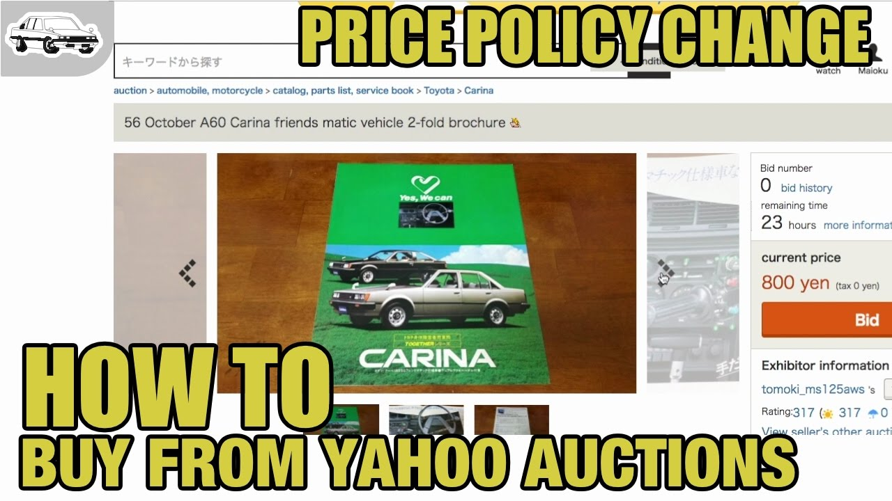 How to buy car stuff from Yahoo Auctions Japan [Price policy change ...