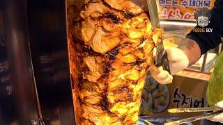 Korean Street Food   Kebab in Kkangtong Night Market, Busan Korea