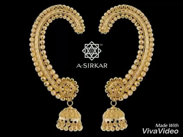 Gold Earrings ¦¦ Traditional Bengali Earrings.mp4