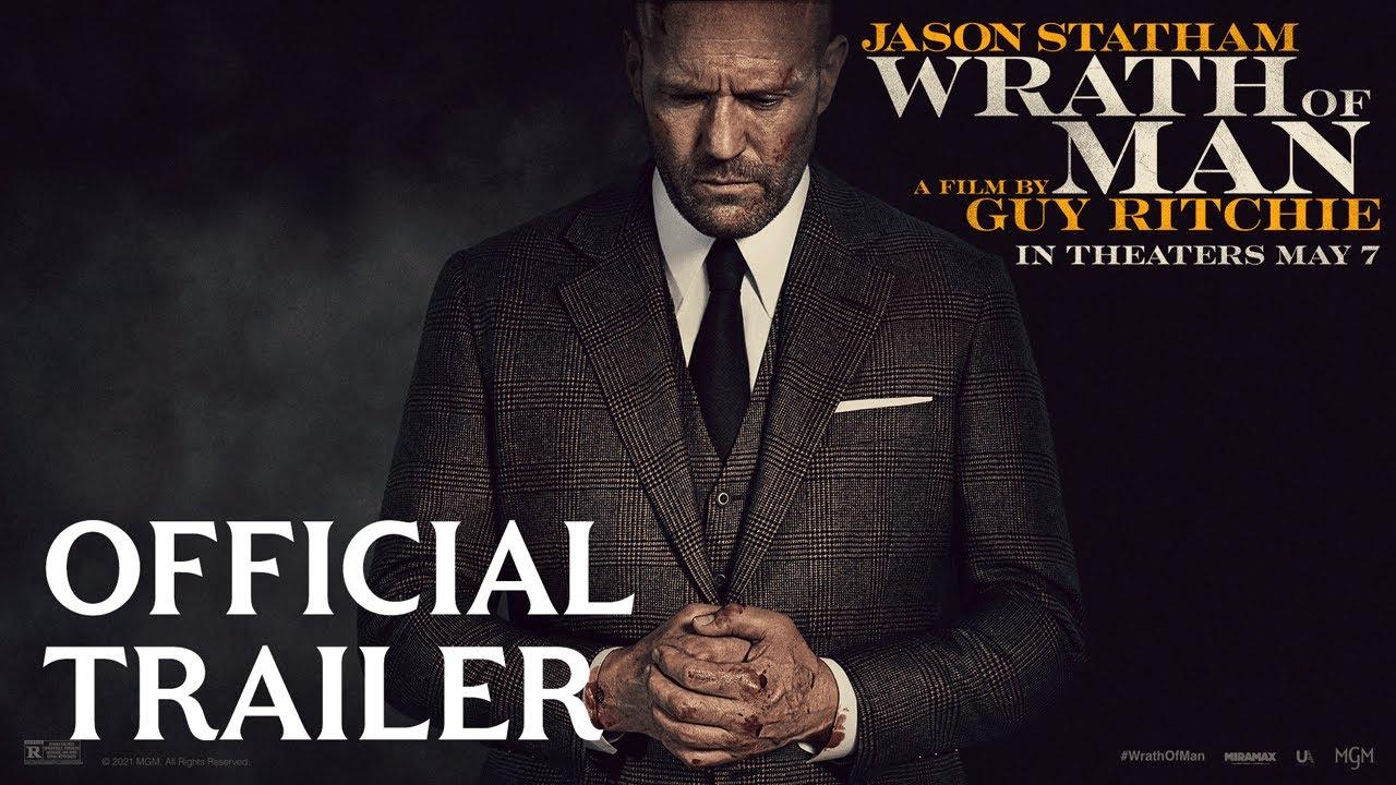 Jason Statham in Wrath of Man trailer door Guy Ritchie