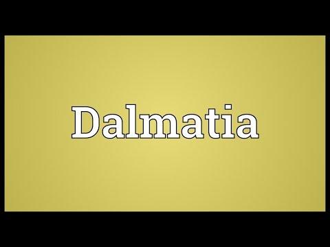 Dalmatia Meaning