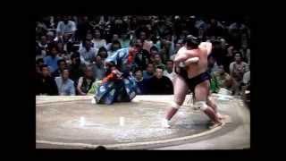 照ノ富士vs妙義龍 平成27年大相撲五月夏場所 Sumo Terunofuji vs Myogiryu.