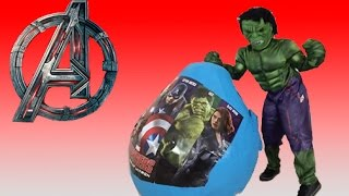 New Avengers Giant Egg Surprise Hulk, Captain America, Iron Man, Thor New Toys 2015 + Kinder Egg
