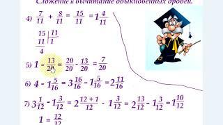 #4 Урок 4. Дроби. Сложение обыкновенных дробей и смешанных чисел. Математика 5 класс.