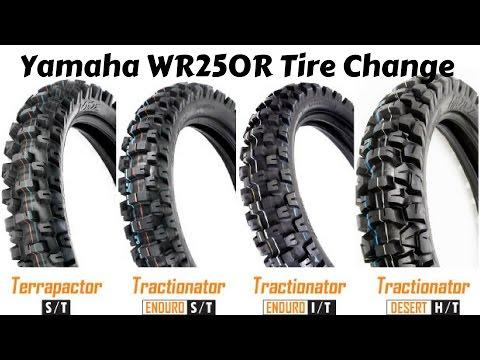 MotoZ Tractionator Enduro WR250R Tire Change