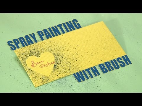 how to make an spray painting with brush youtube. Black Bedroom Furniture Sets. Home Design Ideas