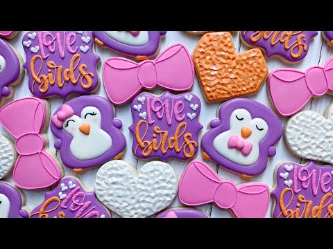 Satisfying Cookie Decorating | LOVE BIRDS | The Graceful Baker