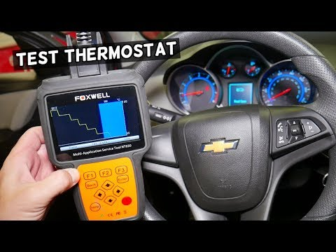 HOW TO KNOW IF THERMOSTAT IS GOOD OR BAD ON CHEVROLET CRUZE, CHEVY SONIC, HOLDEN CRUZE
