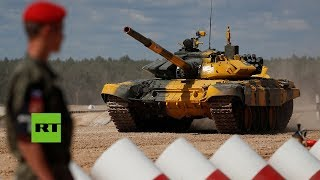 Biatlón de tanques: En Rusia continúan los Juegos militares internacionales 2018