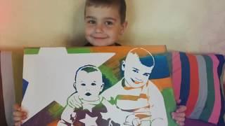 Портрет-трафарет для сына. Отзыв
