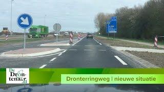 De nieuwe Dronterringweg tussen De Noord en de Biddingringweg