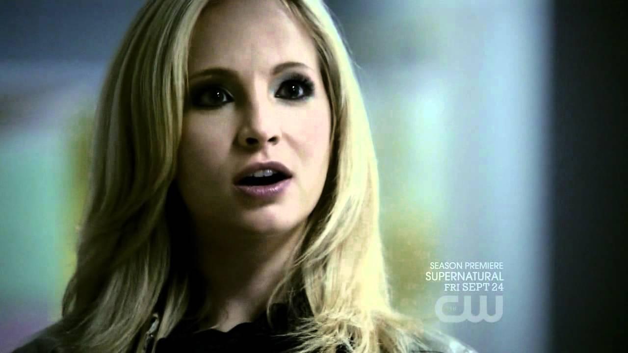 The Vampire Diaries S02e02 Caroline Knocks Down Damon Youtube