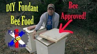 Winter Bee Food: How to Make Fondant Candy - Fondant Recipe