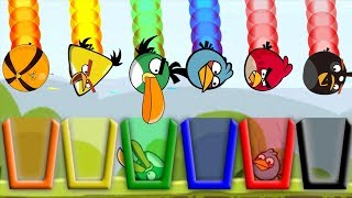 Angry Birds Drink Water 2 - TAKE ALL DIFFERENT BIRDS TO RAINBOW CUP OF WATER!!