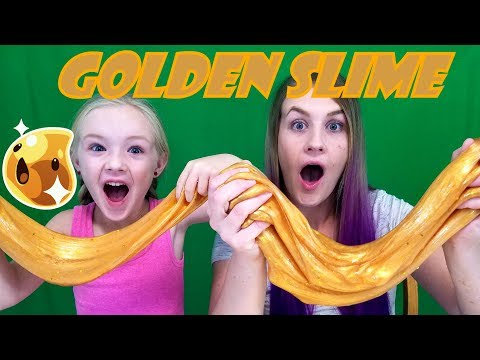DIY Metallic GOLD Slime! Satisfying Liquid Gold | Trinity and Beyond