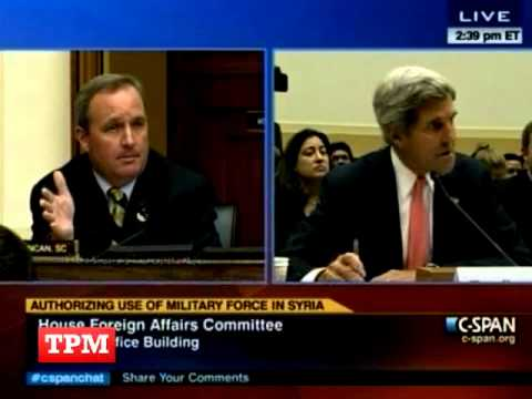 Kerry Scolds Republican Jeff Duncan For Harping On Benghazi At Syria Hearing