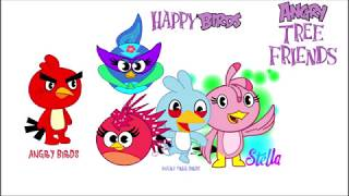 angry birds vs happy tree friends tribute