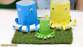 idea 5 cute animals from simple craft paper | Activities For Kids #2