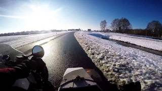 First Gopro Hero 4 Video // Mojo The Sidecar Corgi // Snow