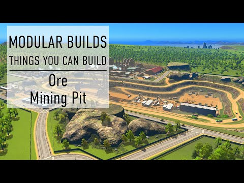 Ore Mining Quarry - Cities Skylines Modular Builds - No Mods (Mini Build Guides)
