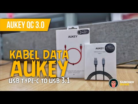 Unboxing Aukey Cable Braided Nylon USB Type C To USB 3.1 Indonesia