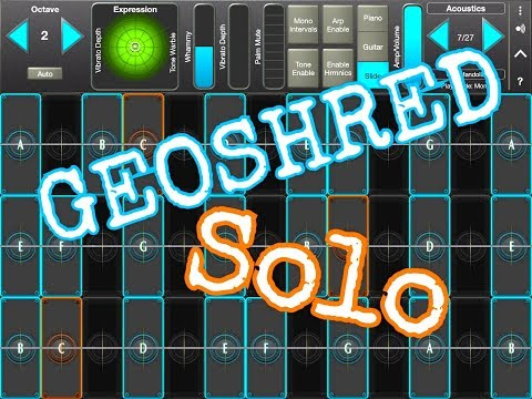 GEOSHRED Let's Play With A Few Great Patches - Demo for the iPad