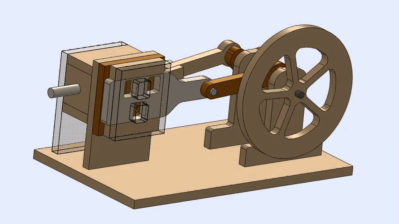... Model of CNC Air Powered Engine Design for DIY CNC Router - YouTube