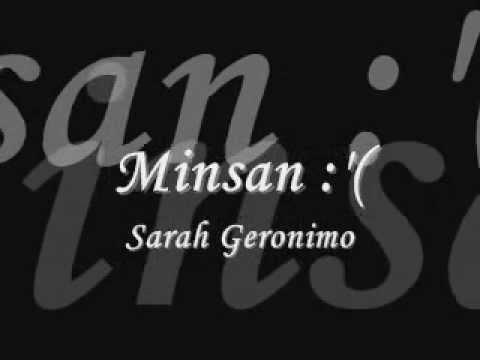 Minsan BY: sarah geronimo